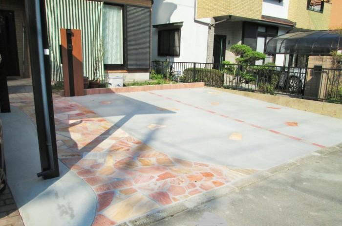 駐車場コンクリート拡張