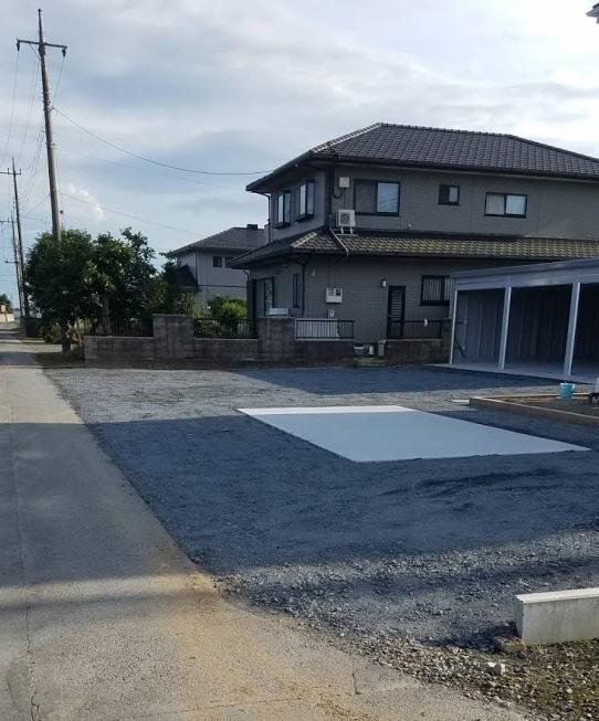 ガレージと土間コンクリート