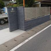 ブロックフェンス・門袖