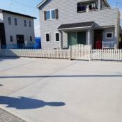 栃木市O様邸 フェンスと駐車スペース