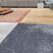 人工芝下地・立上りコンクリート