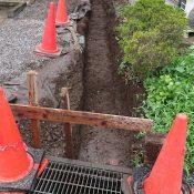 ブロックベース下地掘削