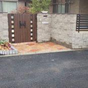 ブロックフェンスと門扉